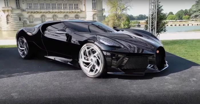 1,500-HP Bugatti La Voiture Noire Costs $18.7M