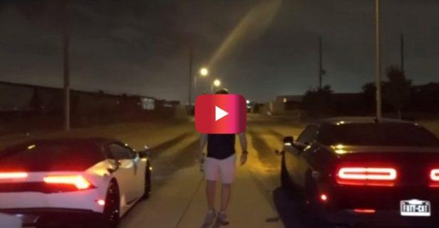 700-HP Dodge Hellcat vs. Lamborghini Huracan in Street Race