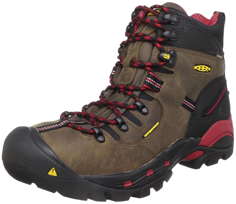"KEEN Utility Men's Pittsburgh 6"" Steel Toe Waterproof Work Boot, Bison/Bison, 10.5 Medium US"