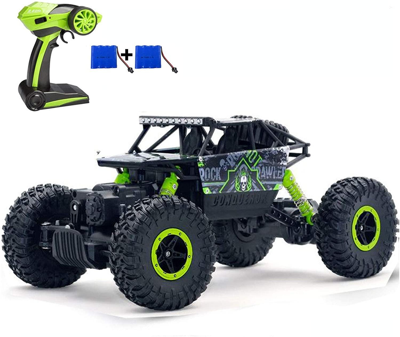 SZJJX RC Cars Off-Road Remote Control Car Trucks Vehicle 2.4Ghz 4WD Powerful 1: 18 Racing Climbing Cars Radio Electric Rock Crawler (Green)