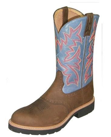 Twisted X Men's Saddle Vamp Pull-On Work Boot Steel Toe - Msc0002