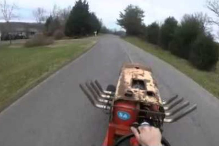 Big-Block Chevy Mower Goes on Rumbling Test Drive Down Country Roads