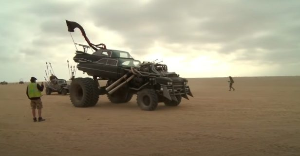 """This """"Mad Max: Fury Road"""" Vehicle Is a Double Cadillac Monster Truck"""