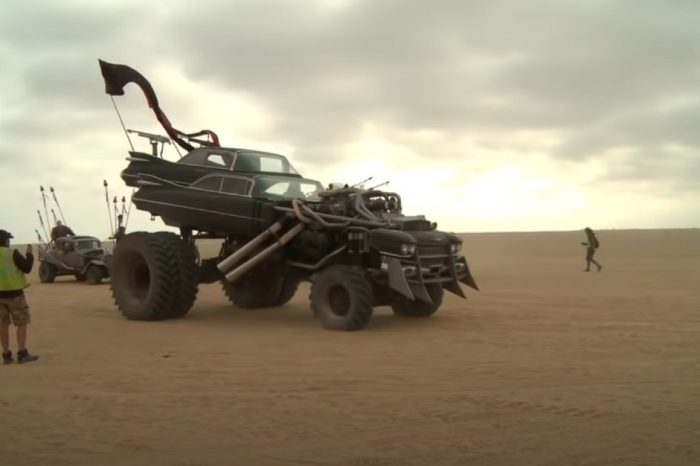 "This ""Mad Max: Fury Road"" Vehicle Is a Double Cadillac Monster Truck"