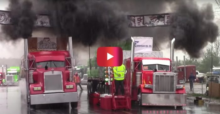 Semi Trucks Go Head-to-Head in Big Rig Challenge