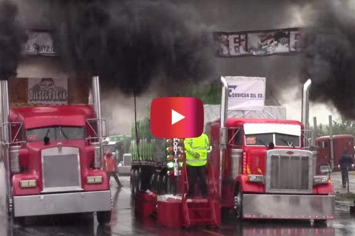 Semi Trucks Go Head-to-Head in Big Rig Challenge