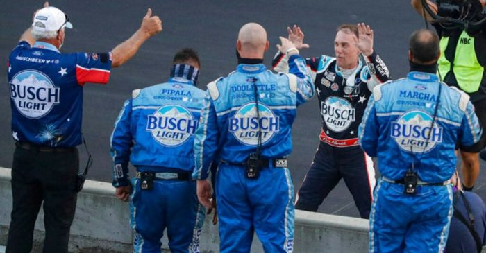 Kevin Harvick Wins Brickyard 400 After Denny Hamlin Crash