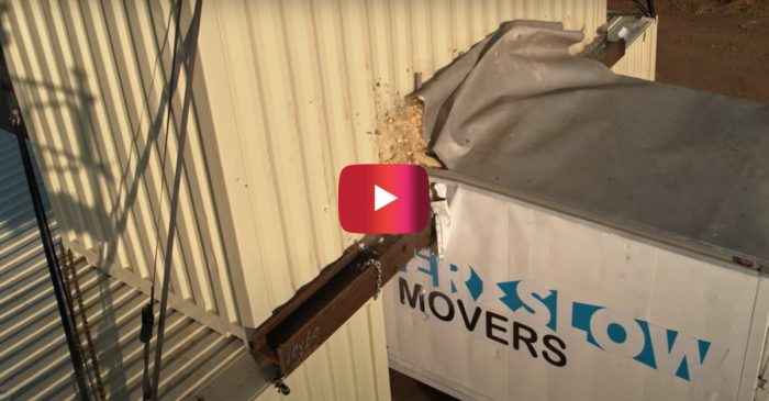 Moving Truck vs. Low Bridge in Slow Motion