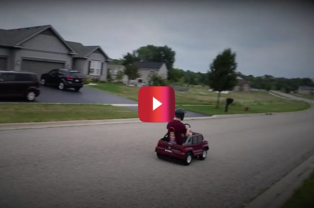 Amateur Mechanic Made This Souped-up Power Wheels Escalade That Goes 40 MPH