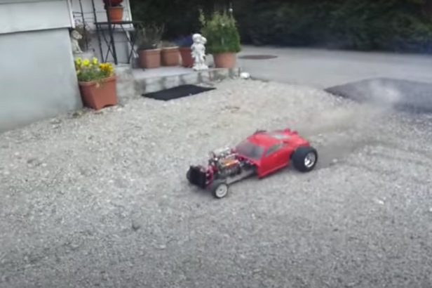 This RC Car Powered by Mini V8 Is No Simple Kid's Toy