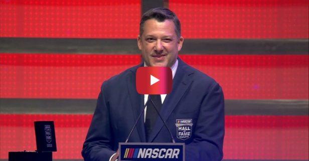 Tony Stewart Thanked Ex-Girlfriends in NASCAR Hall of Fame Speech