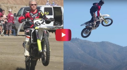 80-year-old grandpa dirtbike prank