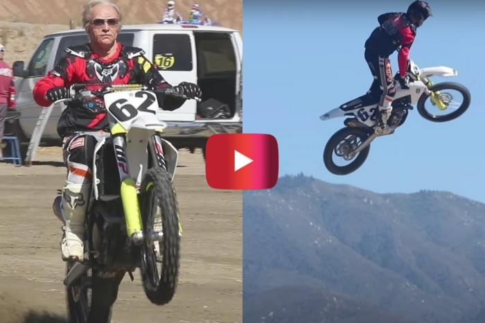 Grandpa Pulls Crazy Dirt Bike Stunts in Hilarious Prank