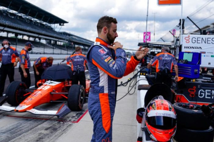 Drivers Practice for Indy 500 in Empty Speedway