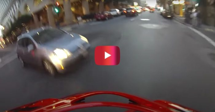 Biker Miraculously Lands on Feet After Getting Hit by Car