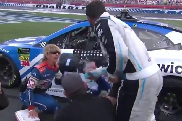 Bubba Wallace Hits Alex Bowman With a Faceful of Drink in Heated Post-Race Confrontation