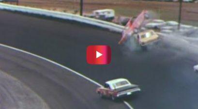cale yarborough flip at 1965 southern 500