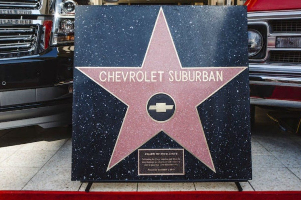 chevy suburban hollywood walk of fame