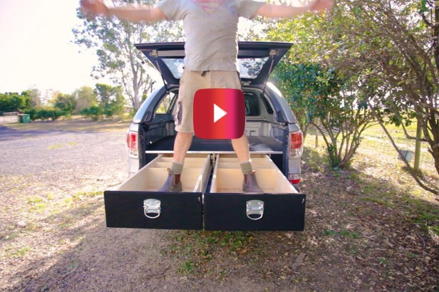 YouTuber Crafts Homemade Truck Bed Drawers, and It Looks Like a Sweet DIY Project