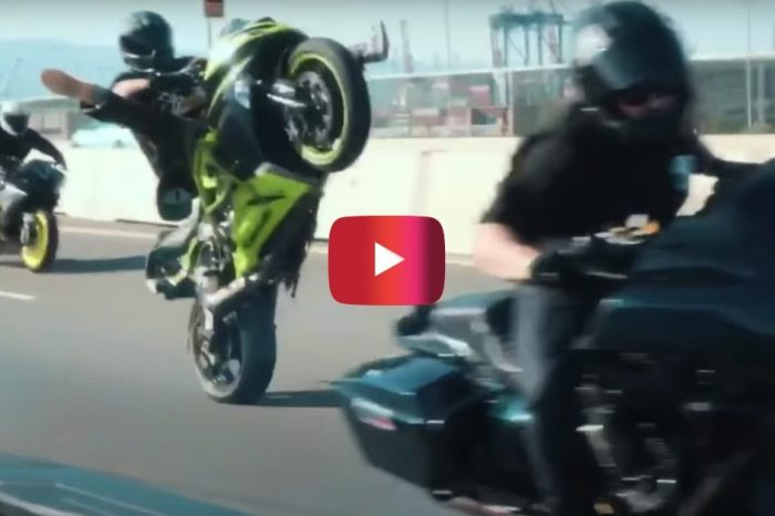 Harley Rider Drifts, Burnouts, and Wheelies in Epic Video
