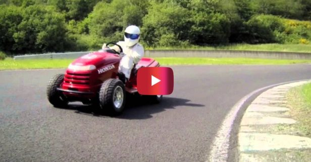"130 MPH Lawnmower Was Custom Made for ""Top Gear"""