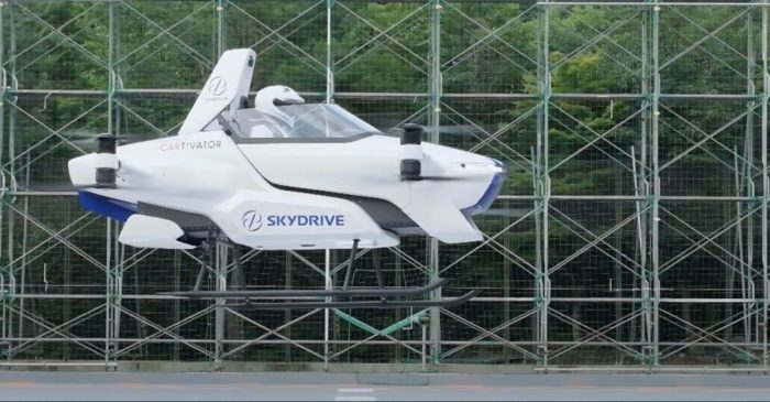 "Japanese Company Tests ""Flying Car"" With Person Aboard"