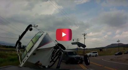 jeep flips new boat