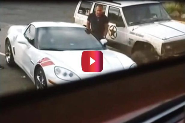 Jeep Owner Dishes Out Sweet Justice on Double-Parked Corvette