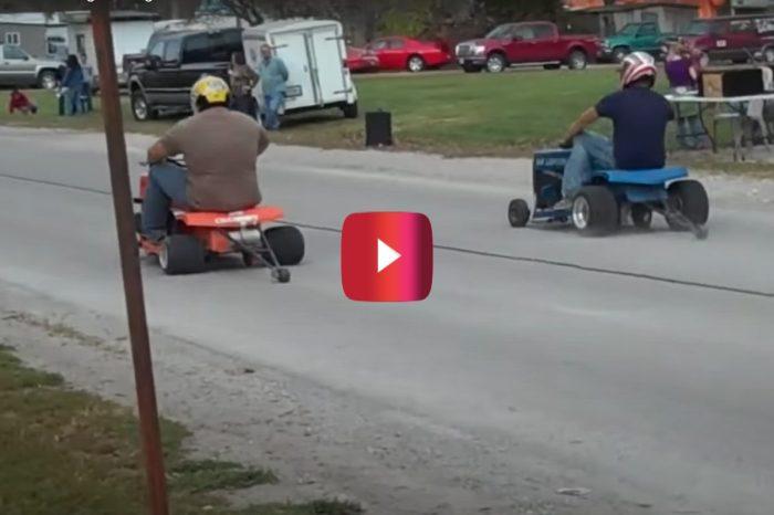 Lawnmower Drag Racing Looks Like Good Ol' Fashioned Fun
