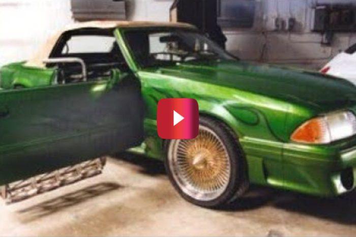 "Jesse James' ""Monster Garage"" Team Turns Mustang Into Lawnmower"
