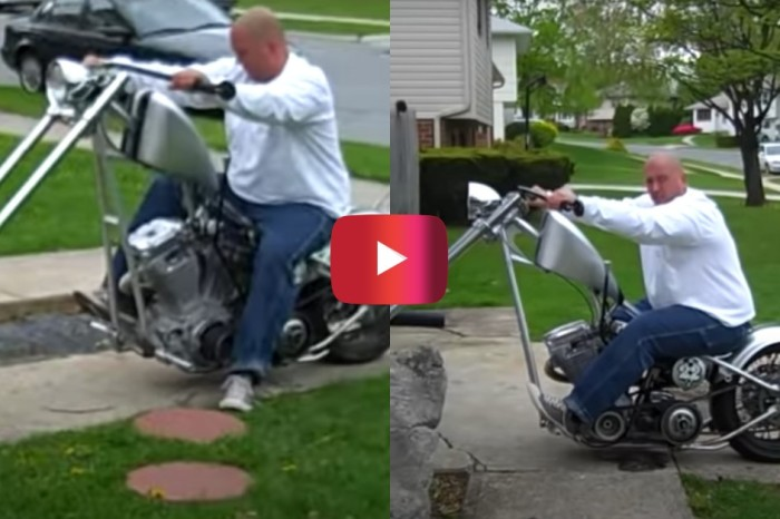Motorcycle Burnout Goes Hilariously Wrong