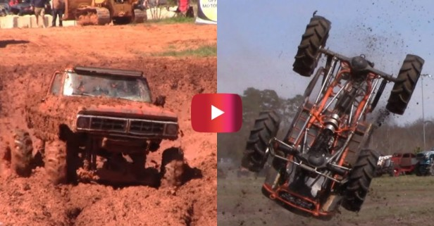 Mud Bogging in Georgia Red Clay Looks Like a Blast