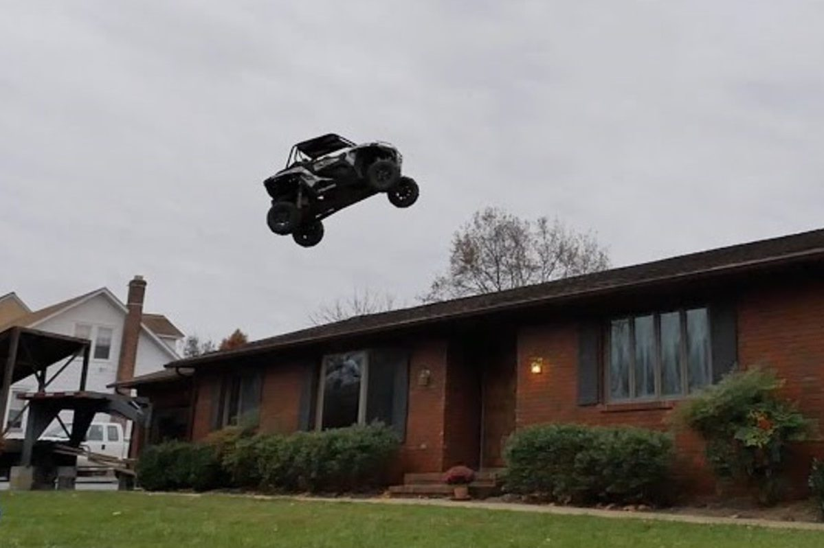 nitro circus buggy over house