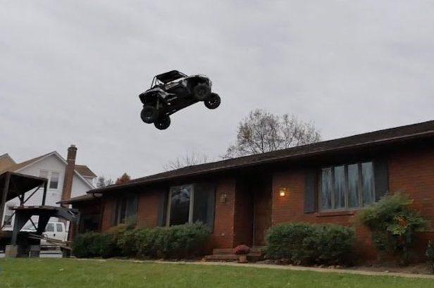 Nitro Circus Star Jumps Quad Over House
