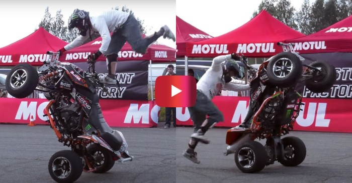 ATV Rider Wins Stunt Contest With Crazy Acrobatics