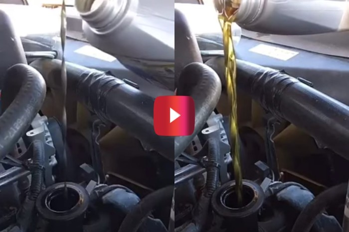 Gearhead Didn't Have a Funnel, So He Changed His Engine Oil With This Simple Hack