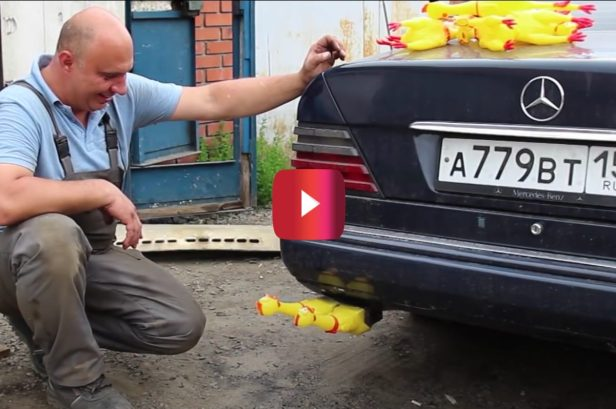 This Rubber Chicken Exhaust Mod Is Cluckin' Hilarious