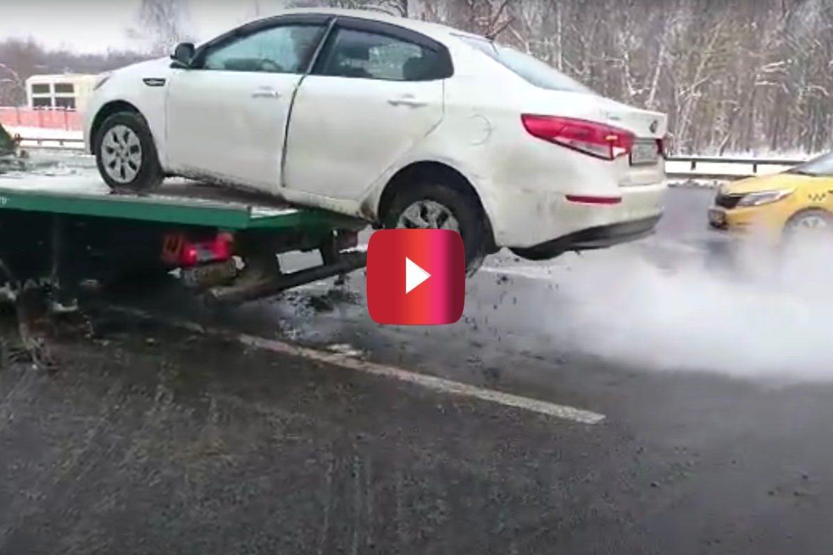 russian tow truck escape
