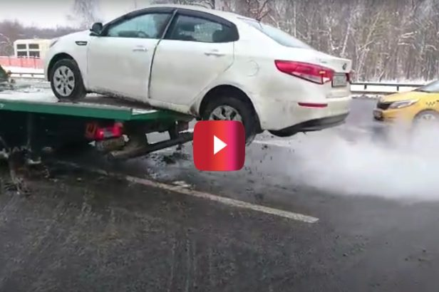 Driver Goes Full Renegade and Escapes His Tow Truck Fate