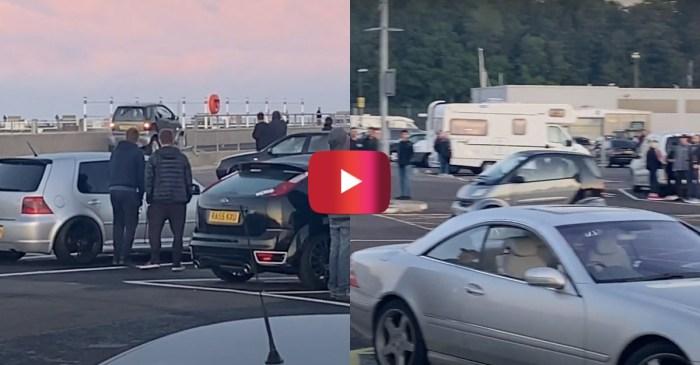 Speeding Smart Car Crashes in Parking Lot