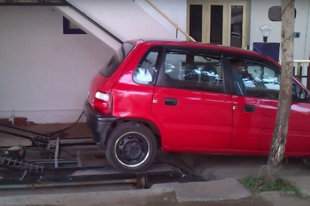 This Guy Didn't Have a Driveway, So He Developed This Smart Parking Solution Instead