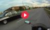 57 Chevy Bel Air vs. Motorcycle