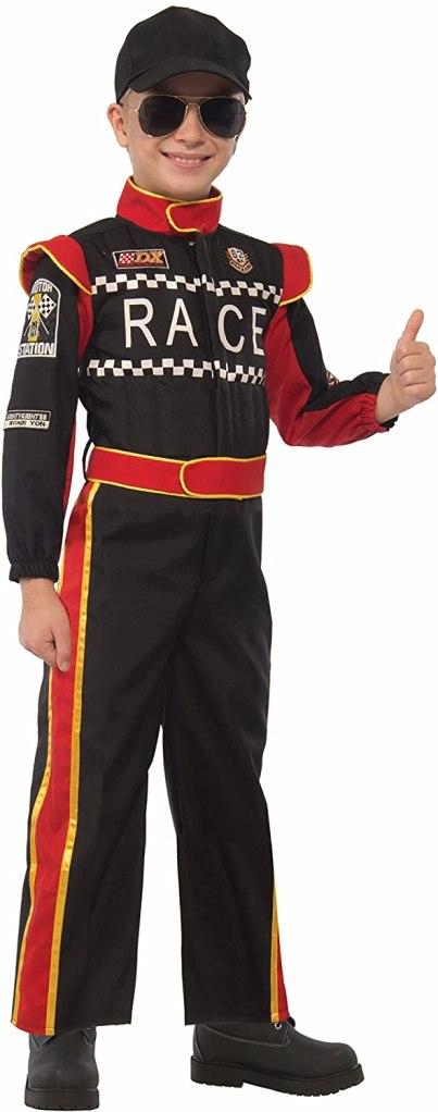 Forum Novelties Kids Race Car Driver Costume, Multicolor, Large