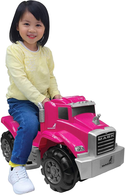 Wonderlanes Beyond Infinity Children's Ride On Mack Truck, Pink - 6V Battery Powered Wheels, Mack Licensed, for Ages 1-3