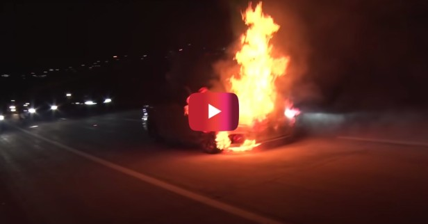Audi Catches on Fire at 150 MPH With No Brakes