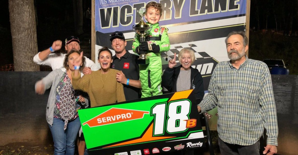 brexton busch wins first race