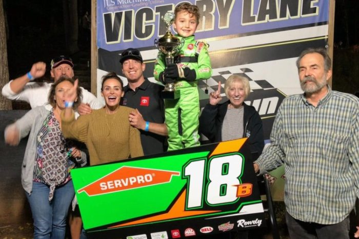 Kyle and Samantha Busch Celebrate Son Brexton's First Racing Win