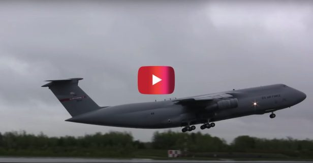 Largest Plane in U.S. Air Force Takes Off in Jaw-Dropping Video