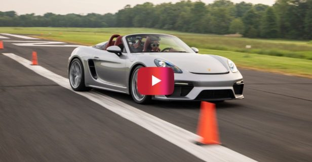 16-Year-Old Racer Sets Fastest Slalom Record in Porsche 718 Spyder