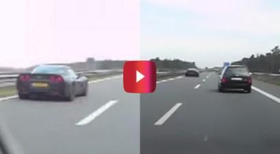 corvette autobahn flyby